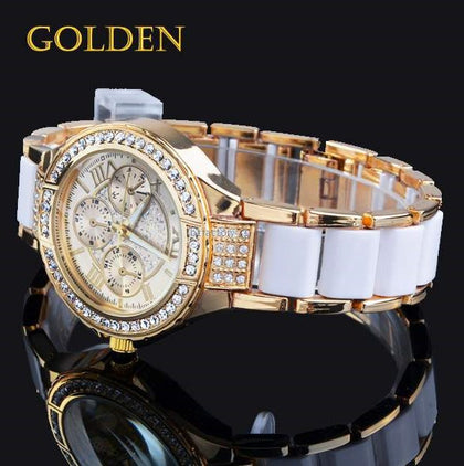 Golden white gold