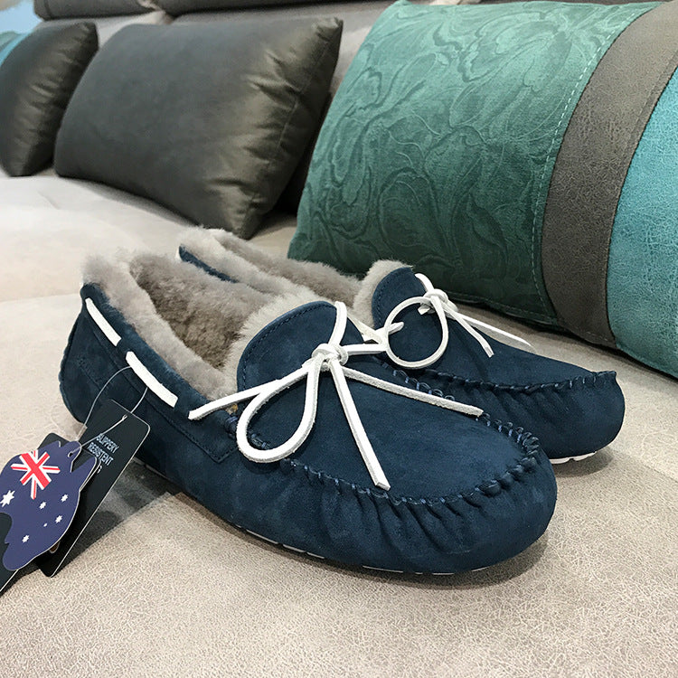 Factory wholesale on behalf of men's water-repellent wool beanie shoes basic cotton shoes lazy shoes LOUTIСUGG