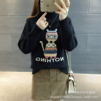 Explosion models 2019 autumn and winter new women's Korean version of the loose knit sweater pullover shirt women