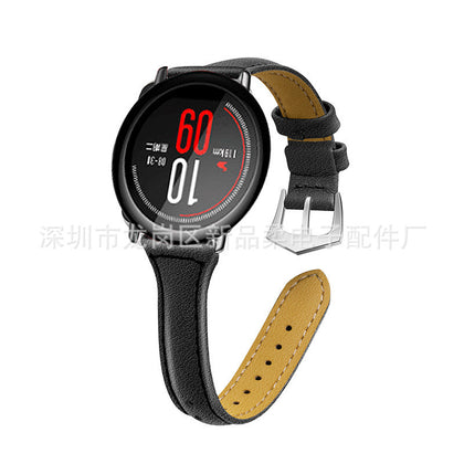 Applicable AMAZFIT Huami Sports Edition Leather Strap T Type Leather Strap Smart Strap 22mm Spot Wholesale