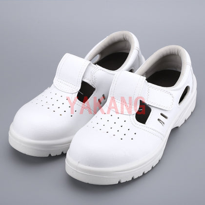 Steel Baotou labor insurance shoes anti-smashing anti-piercing shoes dust-free clean shoes safety shoes white workshop work shoes