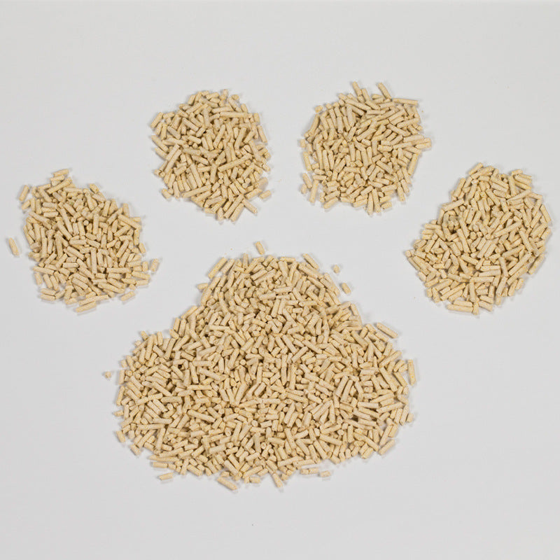 Guibeibei green tea cat litter bean curd deodorant bamboo charcoal small particles about 2.5kg dust-free cat supplies