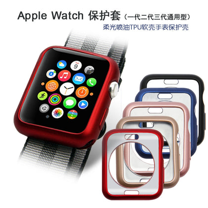 Watch case iwatch 1st generation 2nd generation 3rd generation universal Apple watch protective case TPU fuel injection case