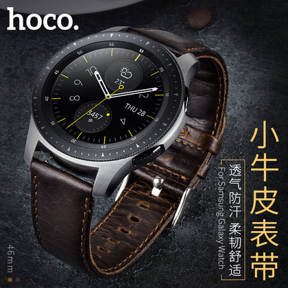 Hoco Samsung Duke Series Calfskin Strap Business Galaxy-Watch Applicable Leather Strap 46MM