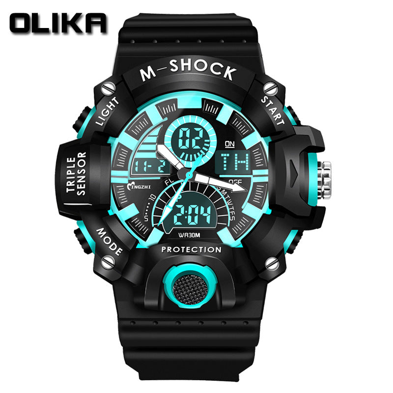 OLIKA new watch authentic fashion sports multifunctional electronic watch couple popular men waterproof wholesale