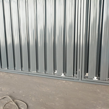 Louver series factory direct sales large favorably zinc steel aluminum alloy shutter fixed window
