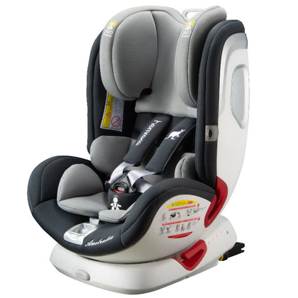 Hamiro Luoer child safety seat car car baby 0-12 years old 360 degrees 4 rotation can sit and lie