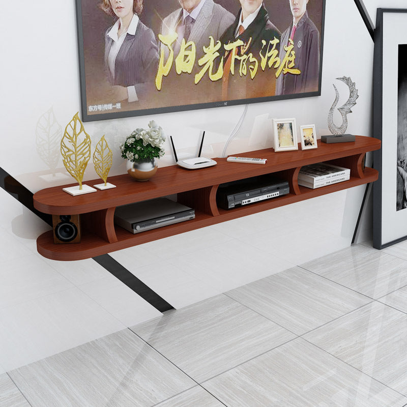 Simple wall hanging solid wood modern minimalist small apartment mini wall combination wall cabinet TV cabinet can be customized solid wood
