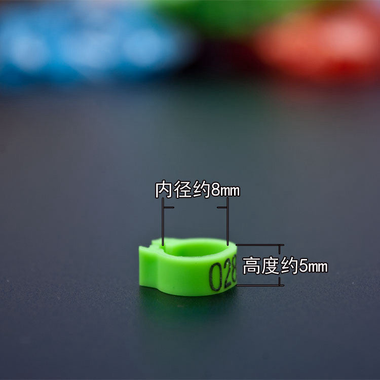 High quality No. 8 pigeon foot ring bayonet digital ring pigeon bird supplies opening identification ring mark ring 10 color optional