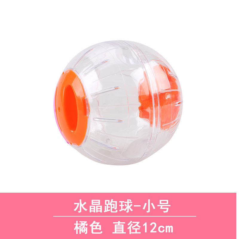 Hamster toy supplies rat ball gold bear crystal running ball roller ball sports ball runner running ball 12cm no frame