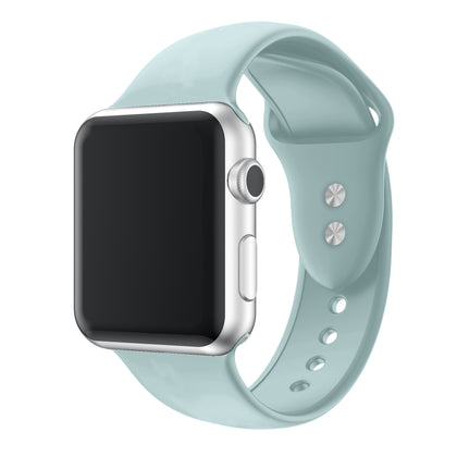 Suitable for Apple Watch Silicone Strap Applewatch Sport Wristband iwatch Double Stud Silicone Strap