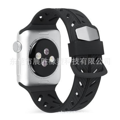 Suitable for iwatch apple two-tone silicone sports strap apple watch strap fashion men and women