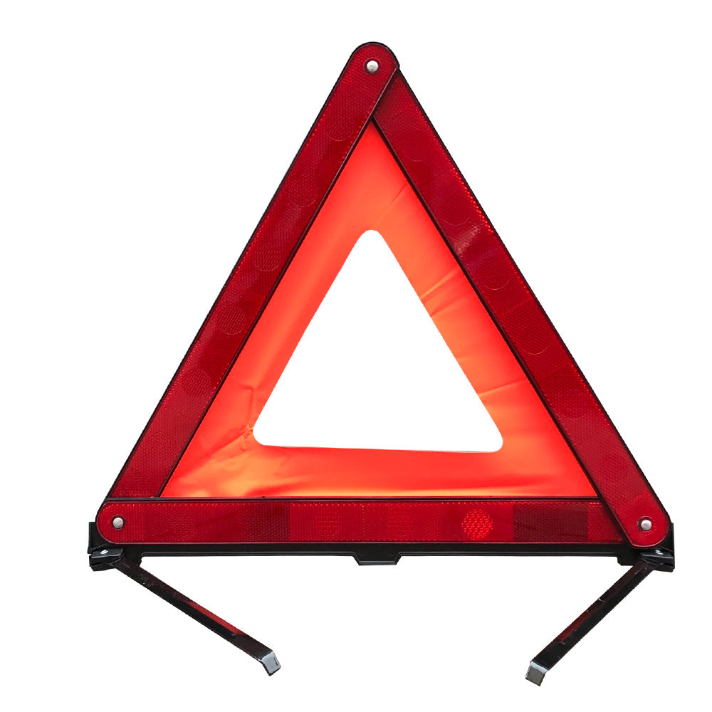 National standard car with tripod warning sign Car small red box reflective cloth tripod Traffic safety warning stand