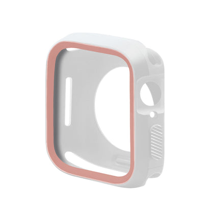 Applicable Apple Watch Protective Case Apple Watch Case Two Color TPU Case AppleWatch Sheath Soft Case
