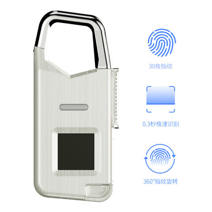 Fingerprint Padlock Rechargeable Fingerprint Password Lock Bag Fingerprint Password Lock Portable Compact Smart Security Lock