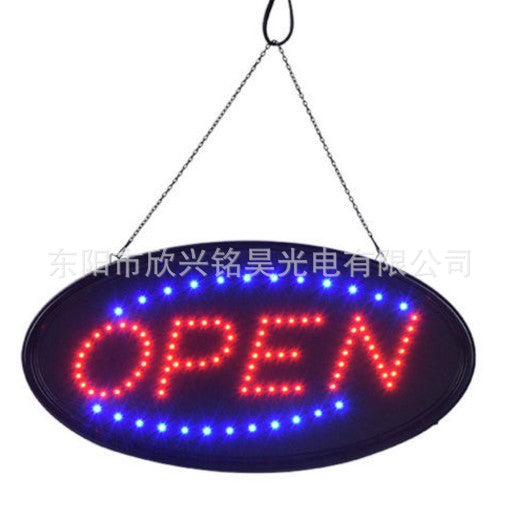 Factory direct led billboards oval led billboards open 48*25cm110v ul US regulations flat plug