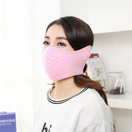 Two-in-one mask earmuffs winter all-inclusive anti-fog masks men and women warm dustproof breathable thickening manufacturers wholesale
