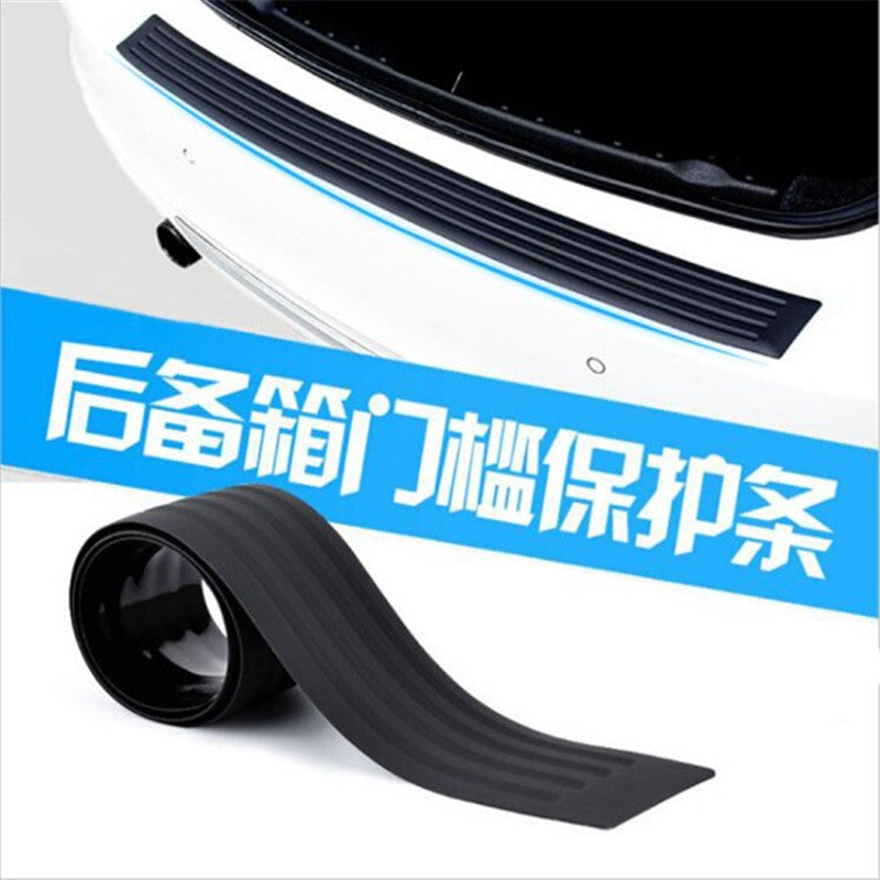 Car universal trunk protective strip bumper anti-collision anti-slip tail door decorative door threshold rear guard plate protection