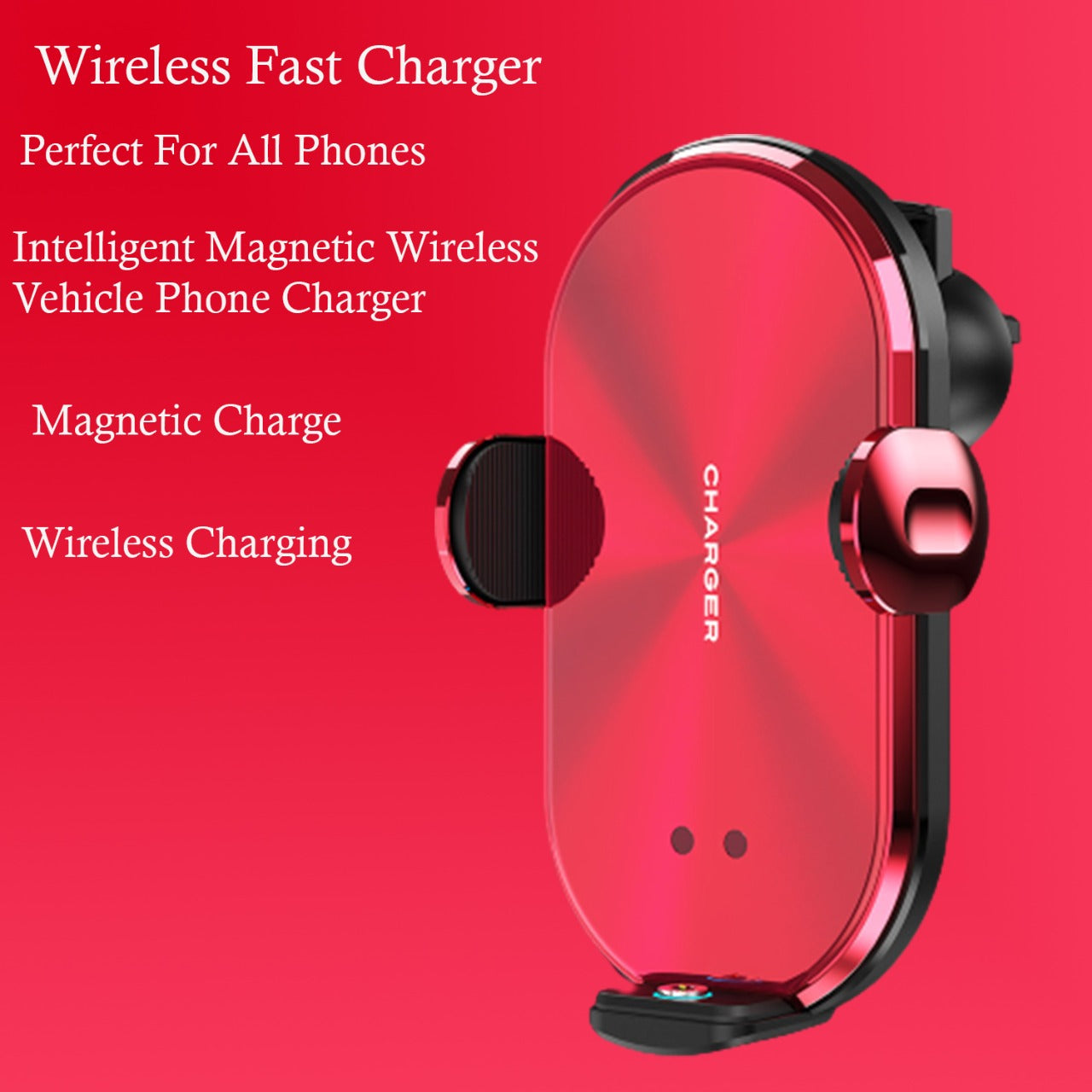 Car Wireless Charger Smart Sensor With 3 Type Pin (Android/ Apple/ C- Type)