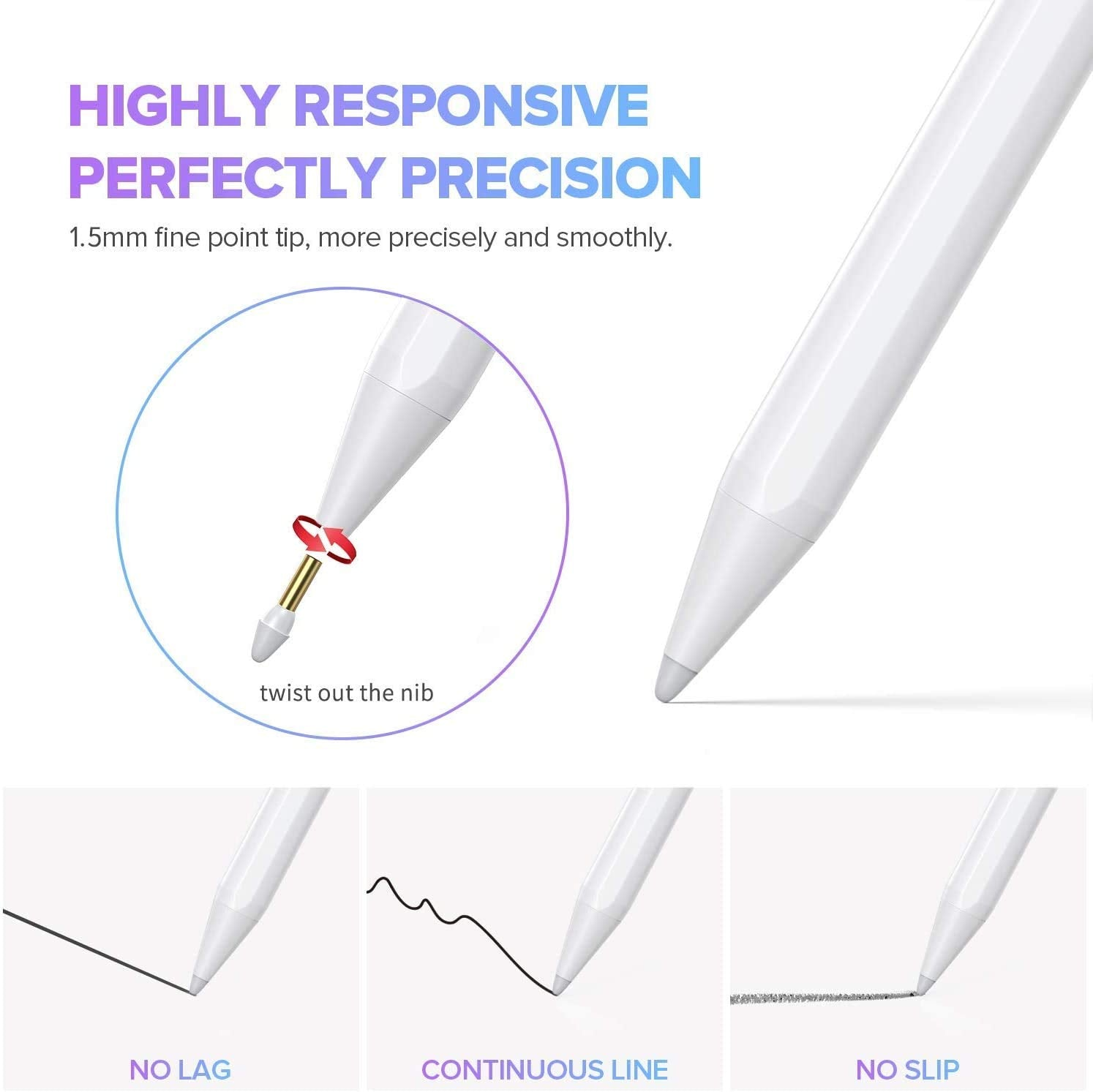 Stylus Pen with Palm Rejection Design