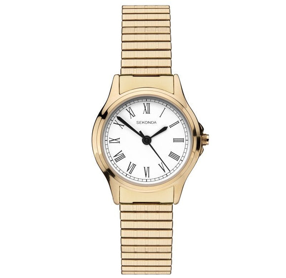 Sekonda 2702 Ladies on gold plated expanding bracelet