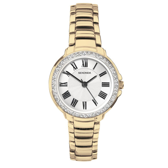 Sekonda 2778 Ladies Luxury Gold Plated Dress Bracelet