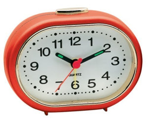 CHAMPION QA24 Oval small ALARM CLOCK Luminous HANDS