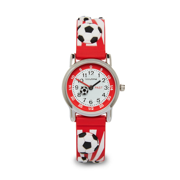 Accutime Kids Football watch Red