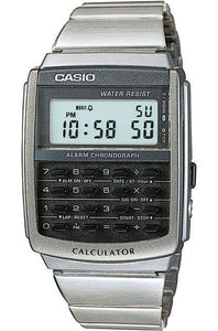 CASIO MEN\`S DIGITAL WATCH CALCULATOR STEEL BAND CA-506-1DF - 1