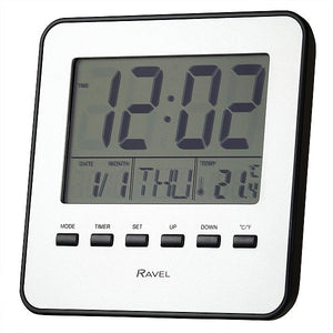 Ravel Multi Function  Quartz LCD Alarm Clock RCD007