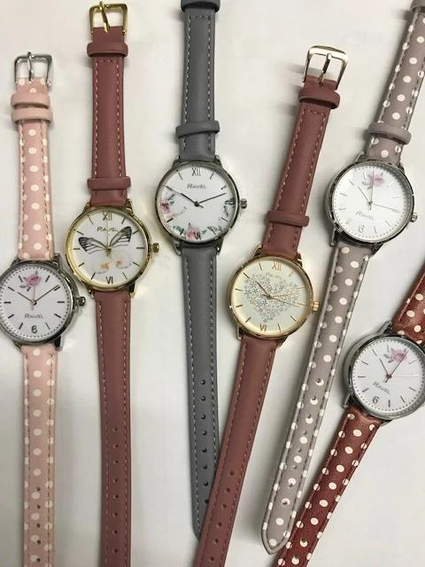Ravel 10pc Ladies Fashion watch on strap Asst\`d