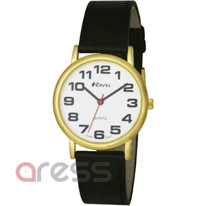 Ravel R105 Super Bold Gold Case 3 Hand Watch on Colour Croco Strap