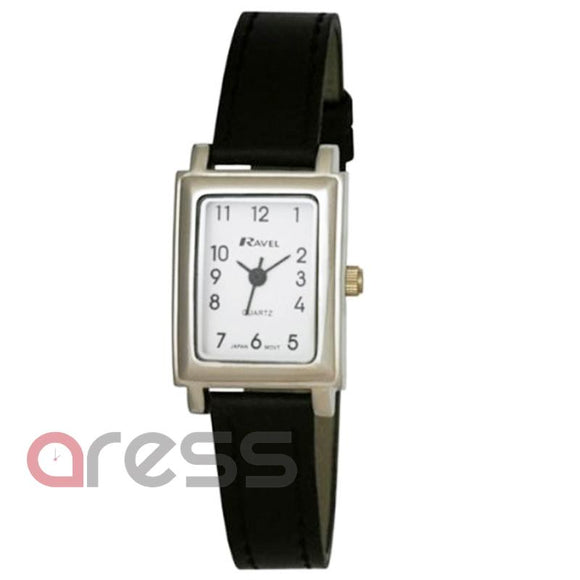 Ravel R0111 Ladies Rectangular Case Wrist PU Strap Watch