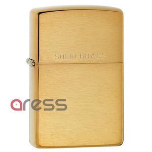 Zippo 204 Brush Finish Solid Brass