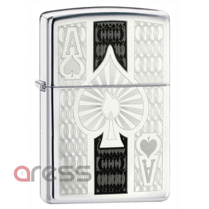 Zippo 24196 Ace High Polish Chrome