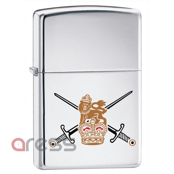 Zippo 250BA British Army High Polish Chrome