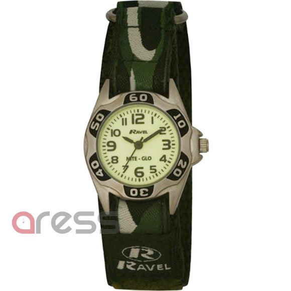 Ravel 1704.11 Boys Nite Glo Watch with Luminescent Dial