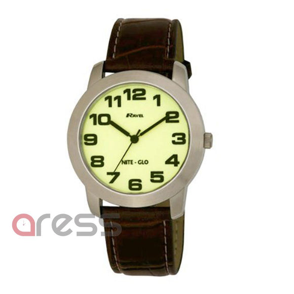 Ravel R1701.2  Gents Nite Glo Watch with Luminescent Dial