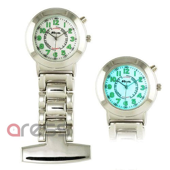 Nurses ELglow Stainless Steel Fob Watch