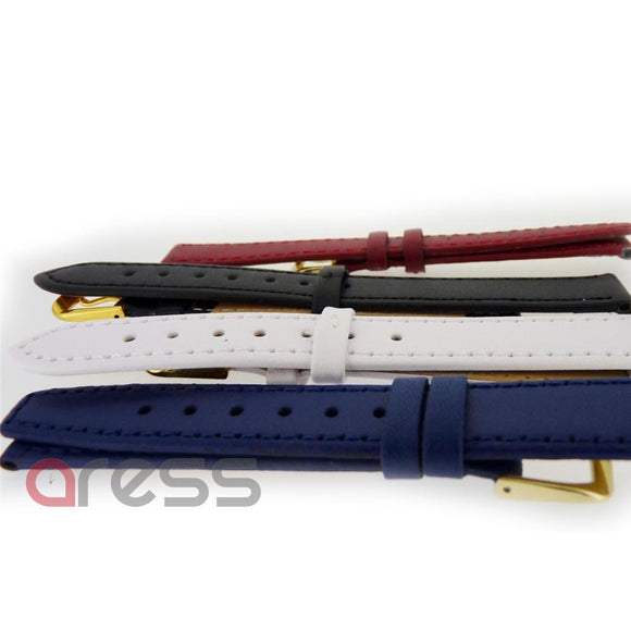 Assorted COLOUR CALF GRAIN watch straps (12 pieces ) (1005)