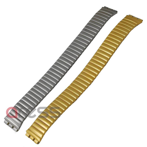 EXPANDING Chrome METAL  WATCH BRACLETS (per 5 pieces)