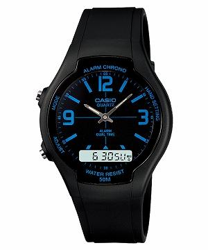 CASIO AW-90H-2BV ANALOG DIGITAL COMBINATION BLACK WATCH