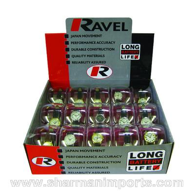 Ravel/Pelex 15pc Gents Basic Watch Display Pack R0100.3