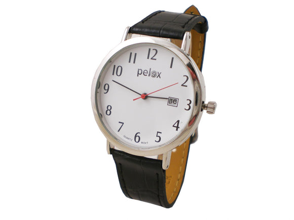 Pelex Basic Quartz Ultra Clear dial with date