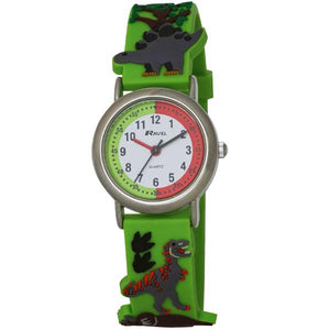 Ravel  R1513.59  Funtime Boys 3D Jungle Design Time Teacher Strap Watch