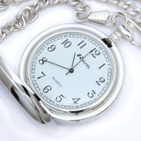 Ravel Hi Polish Chrome Pocket Watch