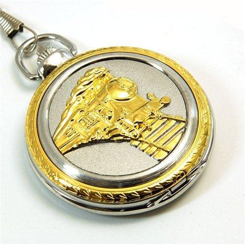Jumbo 2 Tone Pocket Watch