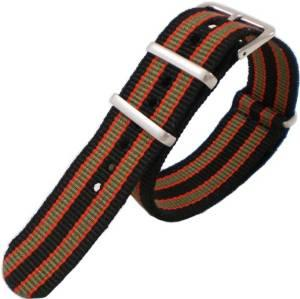 Pandemonium Nato Mod Nylon Watch Strap - Oxford stripes