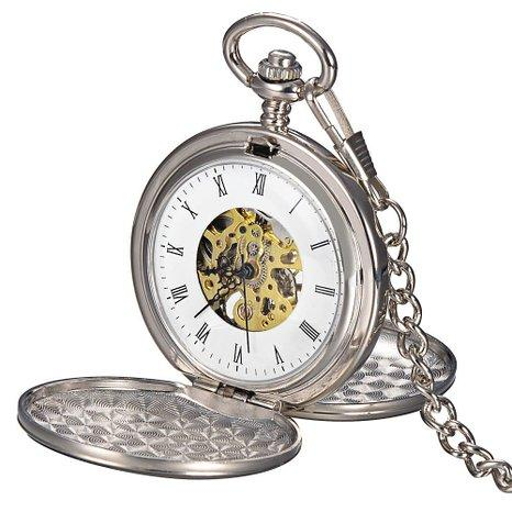 Dual Opening Pocket Watch