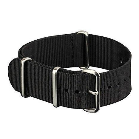 Military Black NATO Watch Band Nylon Fabric Strap G10 4